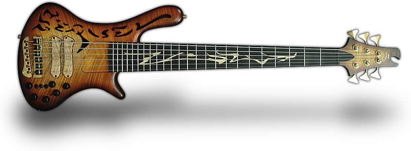 Sequel 6 strings bass guitar with piezo
