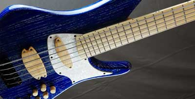 prelude bass guitar close body view small