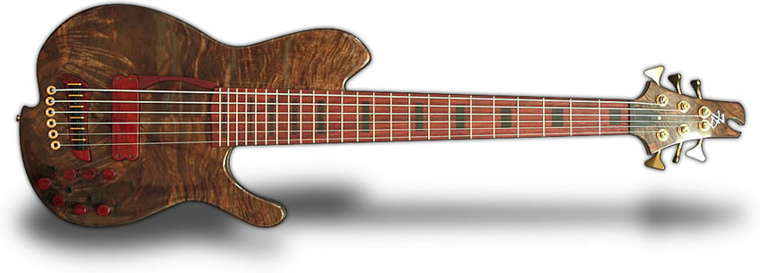 Oracle bronze 7 string bass guitar