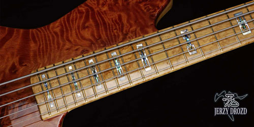"JERZY DROZD Atlas fretboard with ""alianza"" rectangular inlays"