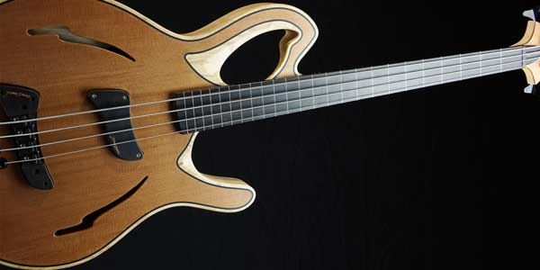 Carles Benavent Piccolo bass guitar angled perspective