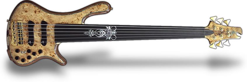 Jerzy Drozd Signature Custom Bass Guitar 6 strings