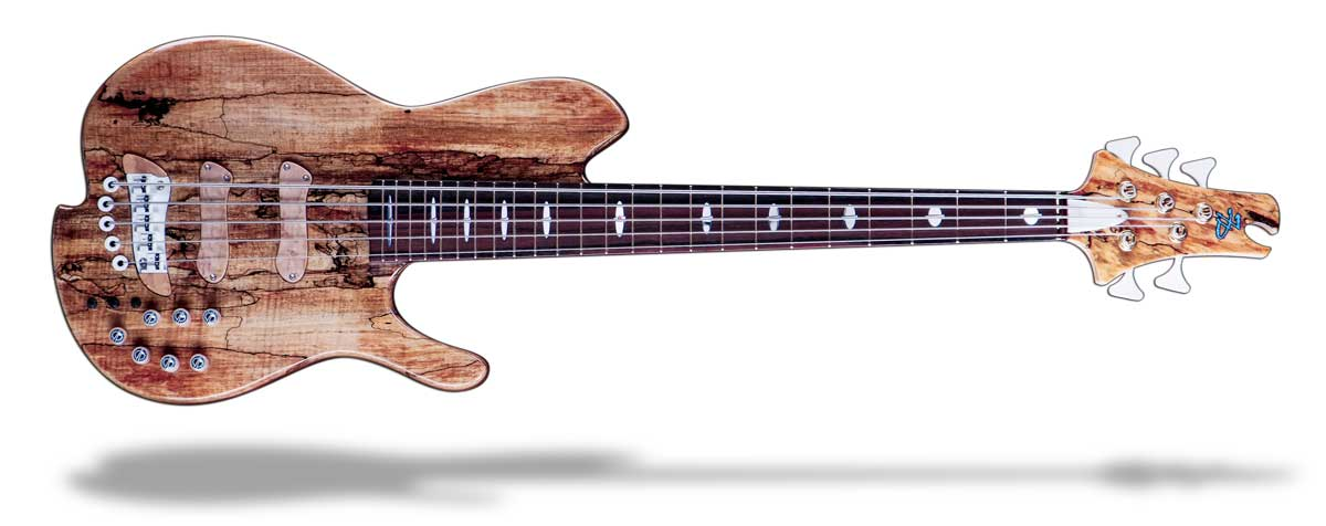 Oracle gold bass guitar for mobile menu